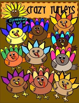 Crazy Turkey Clipart
