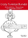 Crazy Turkey Sliders BUNDLE for Articulation, Phonology & Language