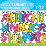 Crazy Uppercase Alphabet Cuties Clipart Set