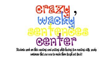 Crazy Wacky Sentences CENTER