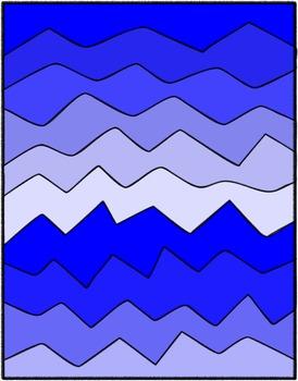 Crazy Wave Digital Paper Clip Art Set ~ Commercial Use ~ No Credit Needed
