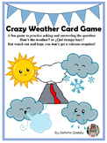 Crazy Weather Card Game - Practice for weather vocabulary in Spanish & English
