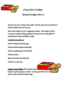 Crazy about Crackers- Animal Cracker Math Activities and More