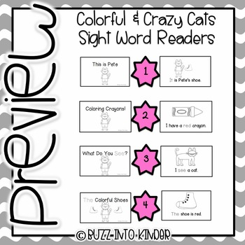Crazy and Colorful Cat- Sight Word Books