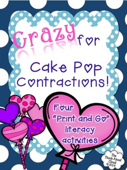 Valentine's Day Contractions with Literacy Activities