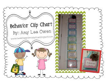 Crazy for Chevron (Behavior Clip Chart)