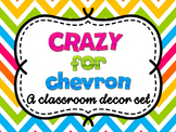 Chevron Decor Set: Editable with matching teacher binder