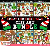 Crazy for Christmas Clip Art GROWING Bundle