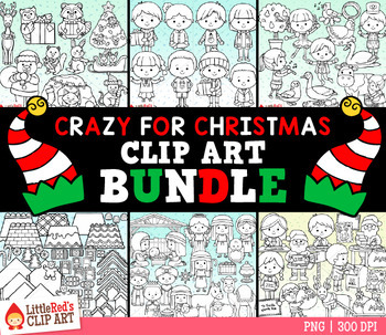 Crazy for Christmas Clip Art Bundle