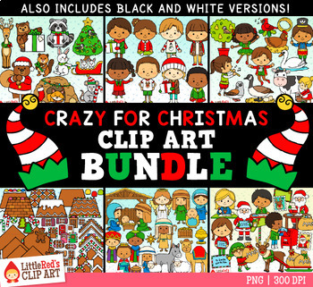 Crazy For Christmas.Crazy For Christmas Clip Art Bundle