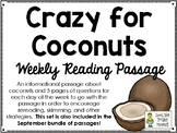 Crazy for Coconuts - Weekly Reading Passage and Questions