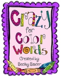 Crazy for Color Words