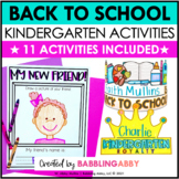 First Day of School & Back to School Activities: Kindergar