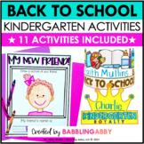 First Day of School Activities Kindergarten and Jitter Juice