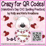 Crazy for QR Codes! (Valentine's Day CVC Spelling Practice)
