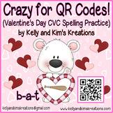 Crazy for QR Codes! (Valentine's Day CVC Spelling Practice)