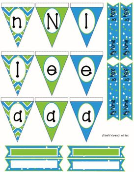Crazy for chevrons! Add on! Tiny pennant! Perfect for name plates!