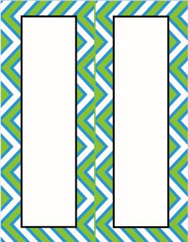 Crazy for chevrons! Labels, banners, and more!