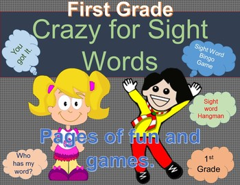 Crazy over Sight Words First Grade
