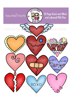 Cre8tive Hands - Assorted Hearts clipart set