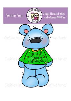 Cre8tive Hands - Bennie Bear clipart