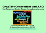 CreATive Connections & AAC:  List Poems and Starters (Poet