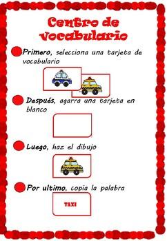 Crea tarjetas de vocabulario