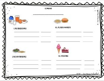 Crea tu propio menú & Diálogo del Restaurante Bundle