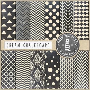Cream Chalkboard Digital Backgrounds