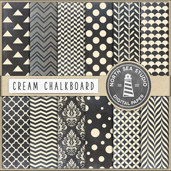 Chalkboard Paper, Cream Chalkboard Digital Backgrounds