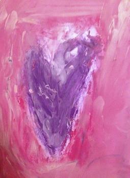 VIDEO: Creamy Chalk Pastel & Tempera Heart Art Lesson