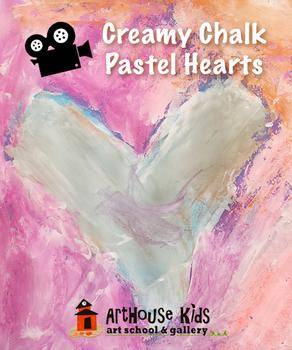 Creamy chalk & tempera hearts