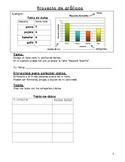 Bar graphs Spanish homework/ Tarea de grafico de barras en español