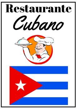 Crear un menú en el restaurante cubano