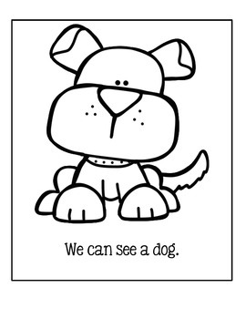 Create A Book For Your Library Center ~ What Can We See At The Pet Store?