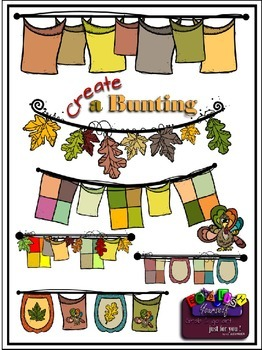 Create A Bunting Clipart (6 FREE Elements Included) Embell