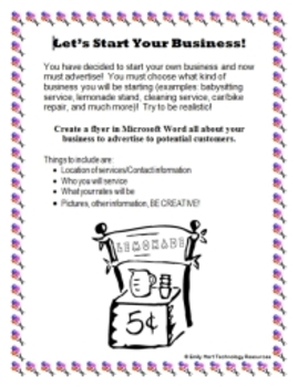 Create A Business Flyer in Microsoft Word - Technology Applications