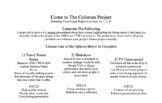 Create A Colony - A Social Studies PBL Project