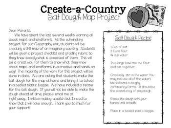 Create-A-Country Salt Dough Maps by The Blessed Teacher | TpT