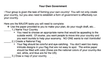 Create-A-Country (VA SOL Friendly)