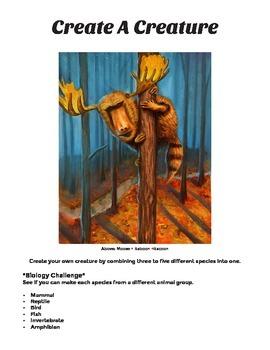 Create A Creature - Art Assignment