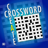 Create A Crossword Puzzle: Vocabulary Review Activity For