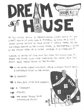 Create A Dream House Drawing Sheet