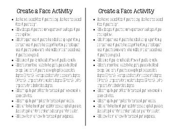 Create-A-Face Activity