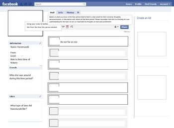 Create A Facebook for Hammurabi