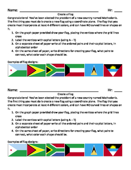 Create A Flag - Coordinate Graphing Project
