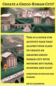 Create A Greco-Roman City! Fun Printable Templates for Greek & Roman History