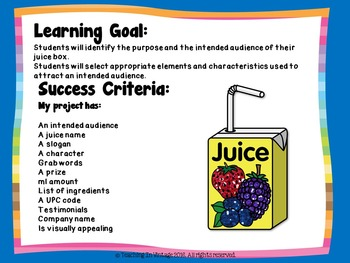 Create A Juice Box Media and Social Studies Project