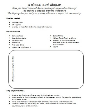 Create A Map- Map Skills Assignment