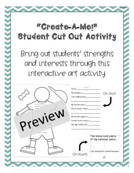 Create-A-Me! Student Cut-Out